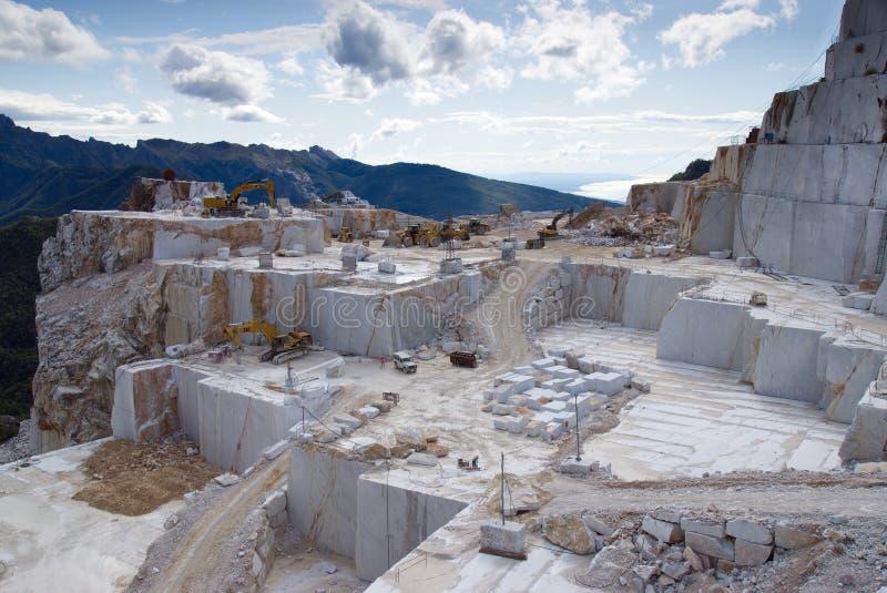Marble Mining Carrara Italy royalty free stock photos