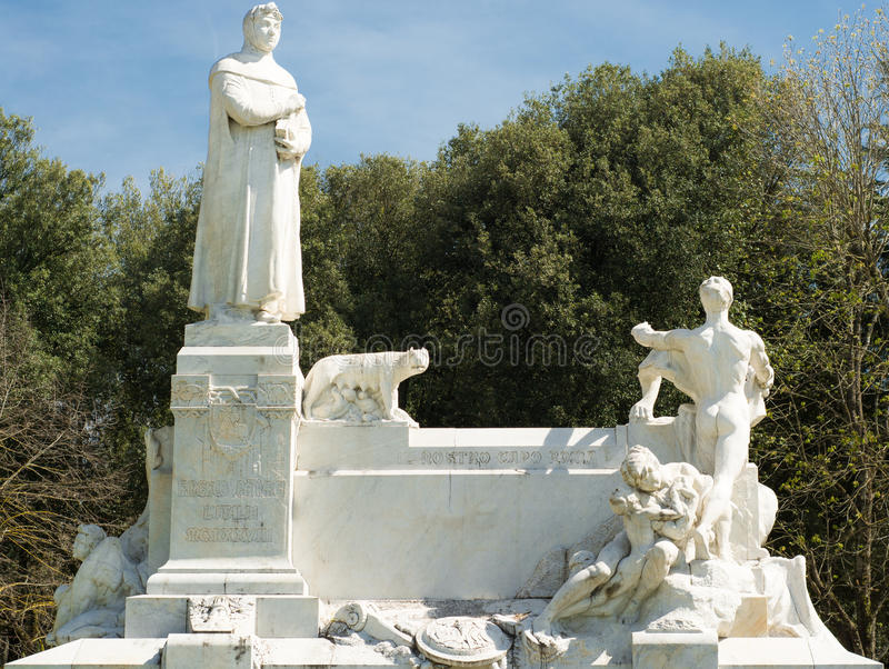 Marble monument of Arezzo royalty free stock image