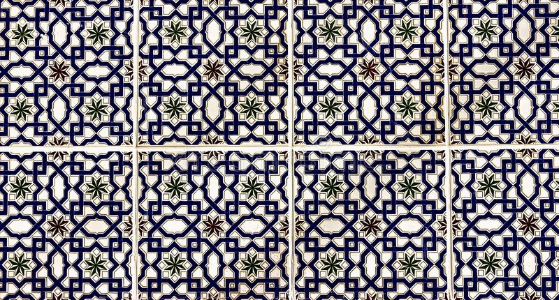 Marble mosaic ceramic tiles royalty free stock photography