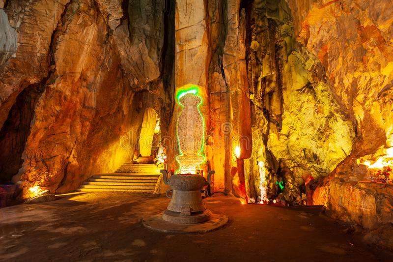 Marble mountains cave in Danang stock photos