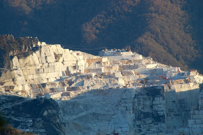 The marble mountains in Italy royalty free stock images