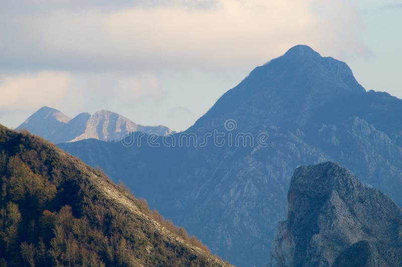 The Marble mountains in Italy royalty free stock photo