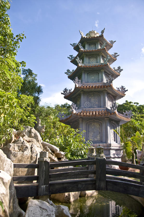 Download Marble Mountains Pagoda stock photo. Image of layers - 16305824