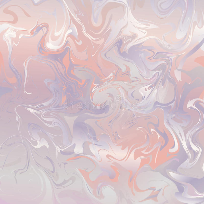 Marble pattern in pink tones. Festive pastel background ink on water with marble pattern vector illustration