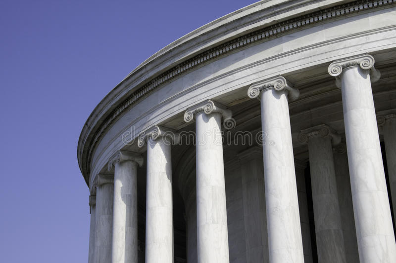 Marble Pillars stock image