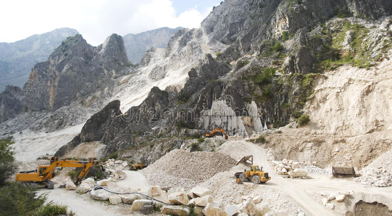 The Marble Quarries. Apuan alps, Italy. The Marble Quarries stock photography