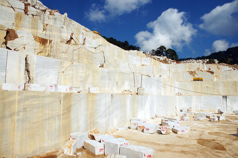 Download Marble quarry stock image. Image of transportation, earth - 3582119