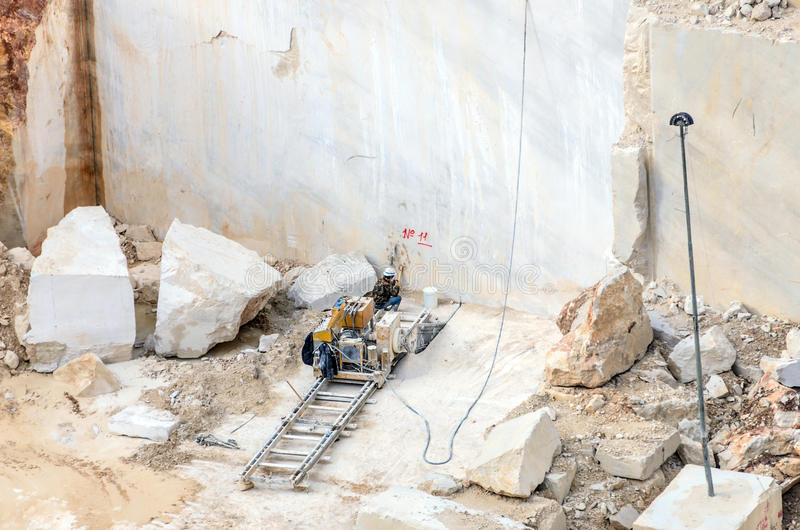 Marble quarry Industrial stock image