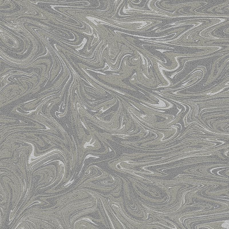 Marble ripple pattern abstract a crylic background. Grey and gold color tone marbling royalty free stock photo