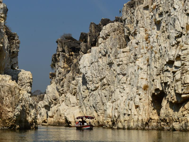 Marble rock formation stock photos