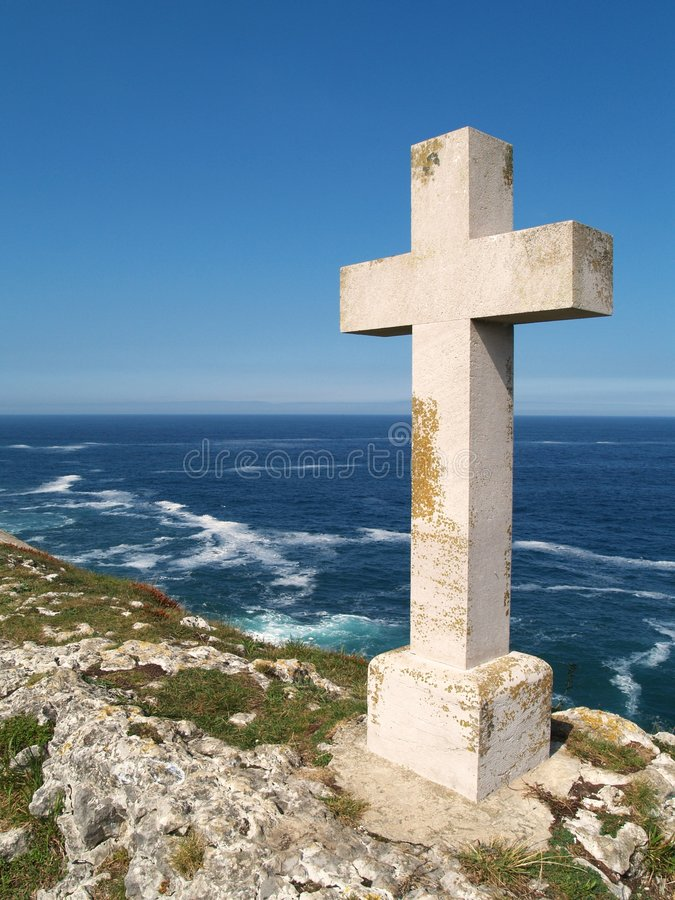 Marble rood. In Llanes (Spain royalty free stock images