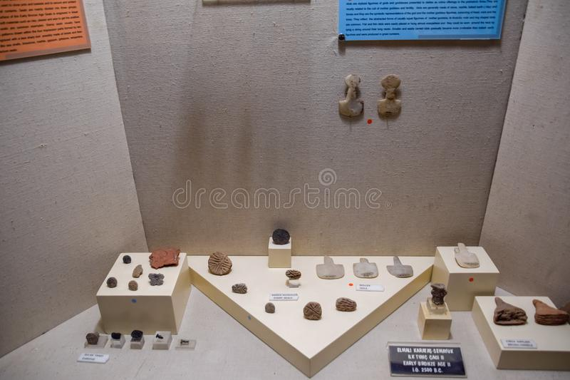 Marble scrapers and ceramic products with decorations. Antalya, Turkey - May 20, 2019: Marble scrapers and ceramic products with decorations stock image