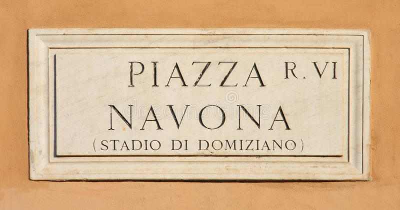 Download Marble sign in Rome, Italy stock image. Image of landmark - 13245197