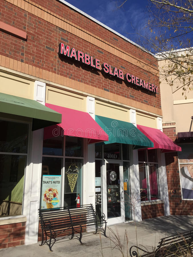 Marble Slab store stock photography