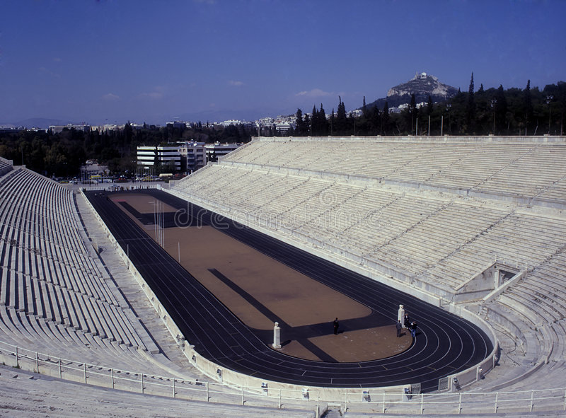 Marble Stadium in Athens royalty free stock image