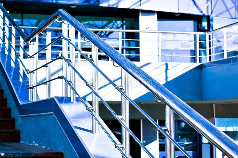 Download Marble Staircase With A Steel Handrail Stock Photo - Image: 9368800