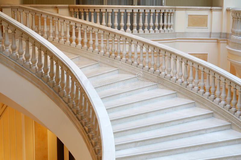 Marble stairs in hotel royalty free stock photography