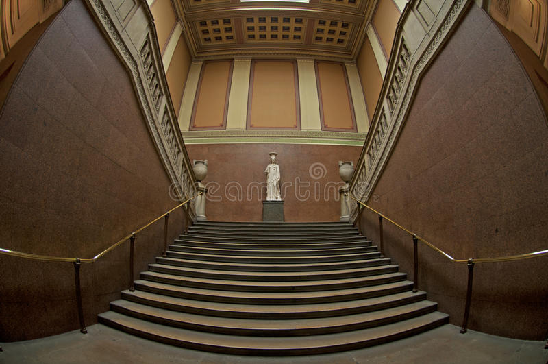 The Marble Stairway stock photo