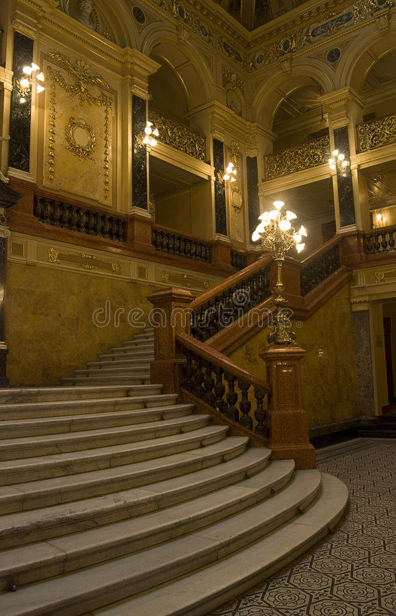 Marble stairway in an opera theater