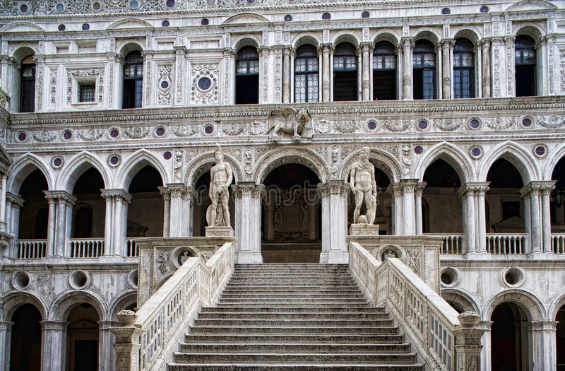 Download Marble Stairway To Doge's Palace Stock Photos - Image: 22123323