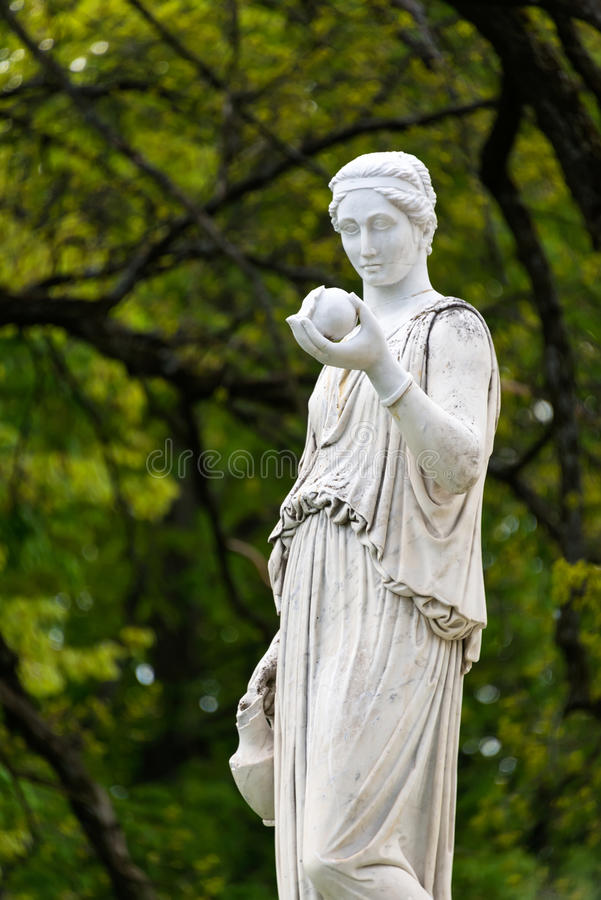 Marble Statue Of The Greek Goddess Hera Or The Stock Photo ...