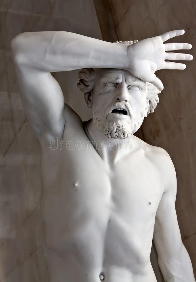 A marble statue in the Hermitage Museum. royalty free stock image