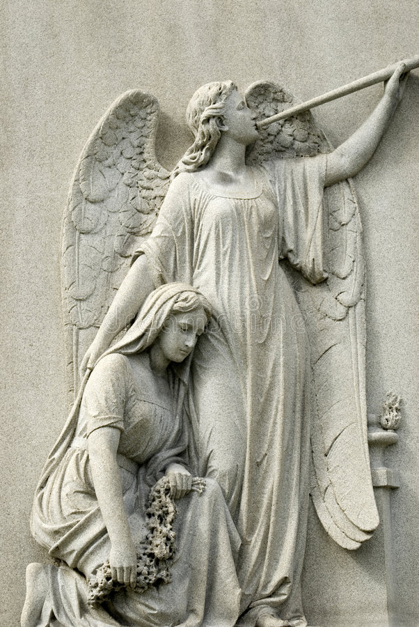 Free Marble Statue Of Mourning Woman And Angel Royalty Free Stock Photo - 8697535