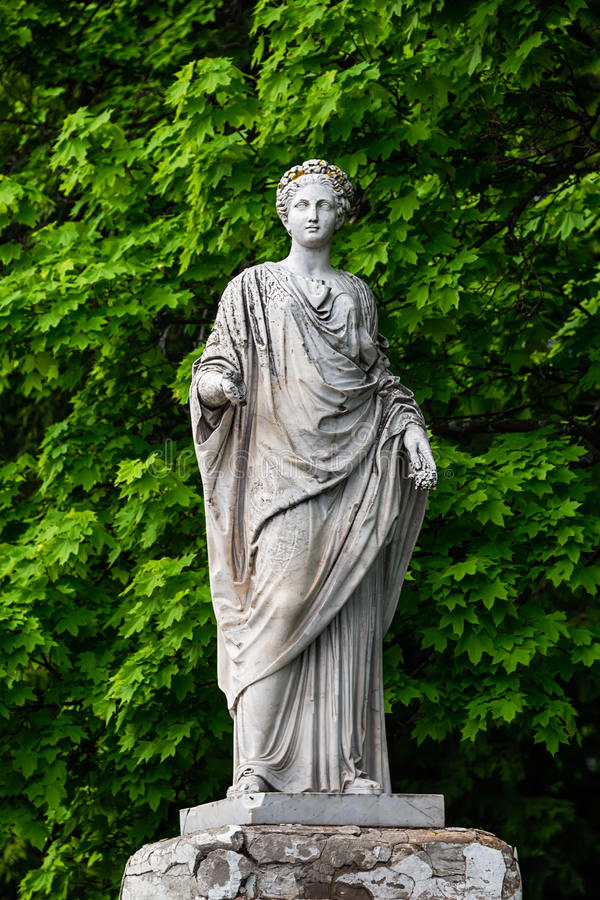 Marble Statue Of Roman Ceres Or Greek Demeter In Stock ...