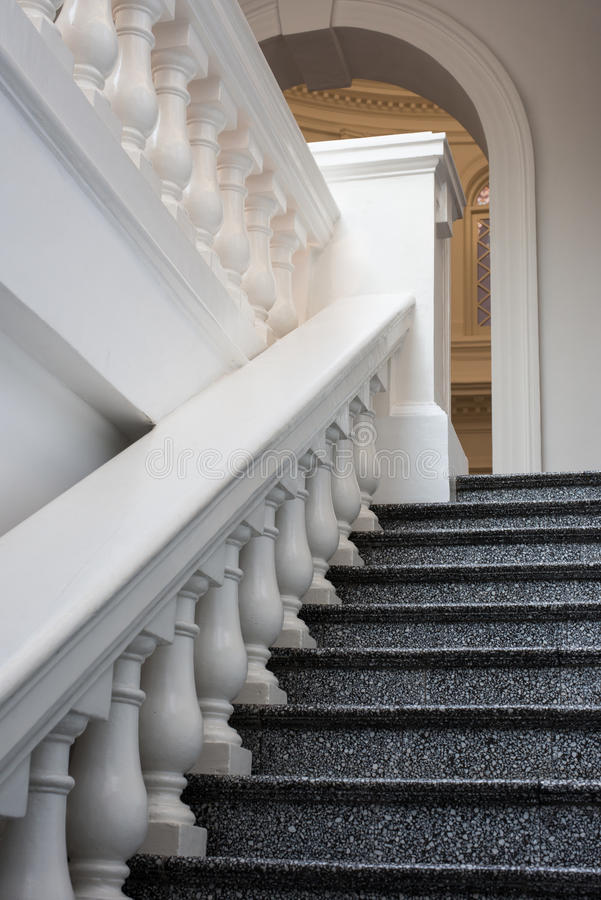 Marble Steps and Railing stock photography