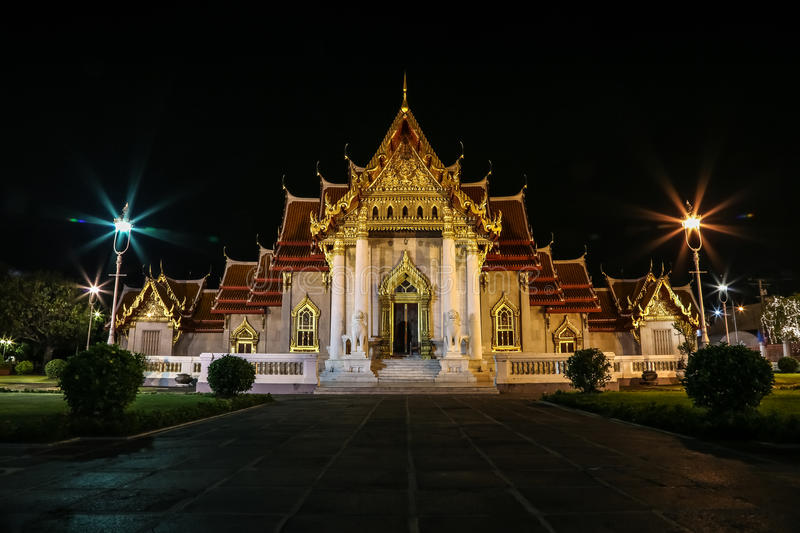The Marble Temple, Bangkok, Thailand stock photo