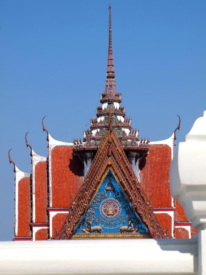 Marble Temple Wat Asokaram Samutprakan Thailand. Close up stock image