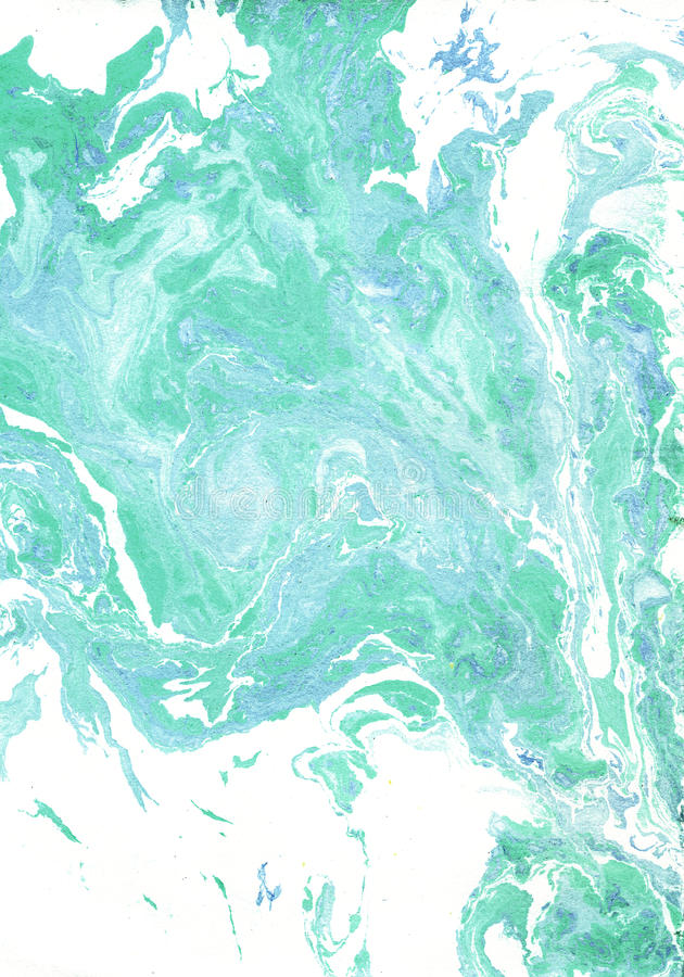 Marble Green Color : Marble texture in white blue green stock illustration