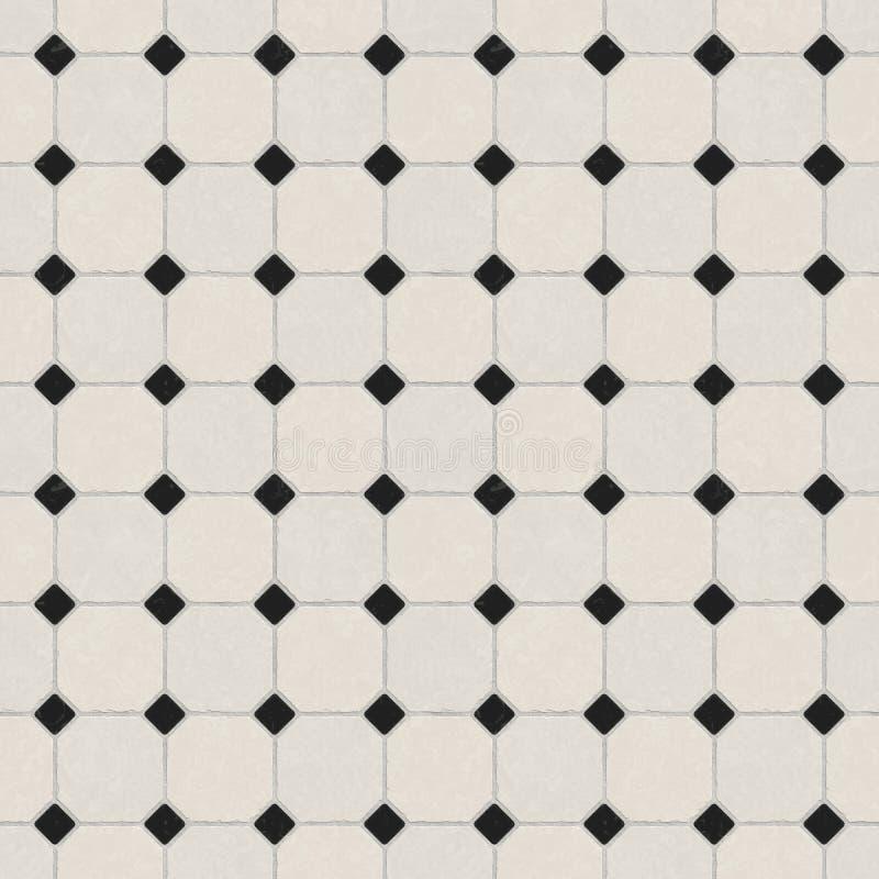 Marble tiled floor tiles royalty free illustration