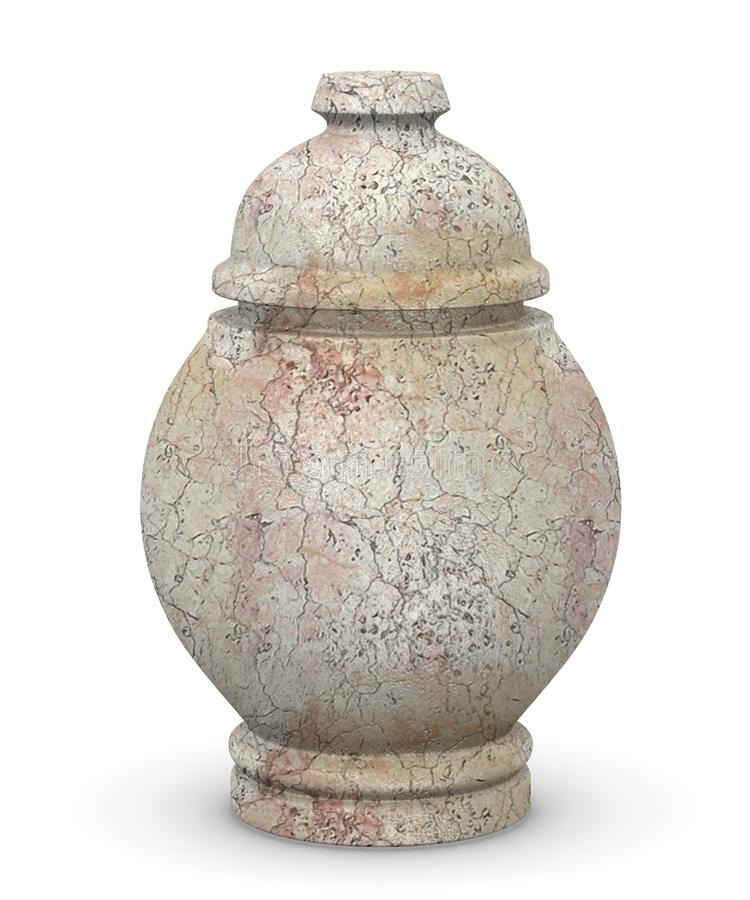 Marble urn for ashes royalty free illustration