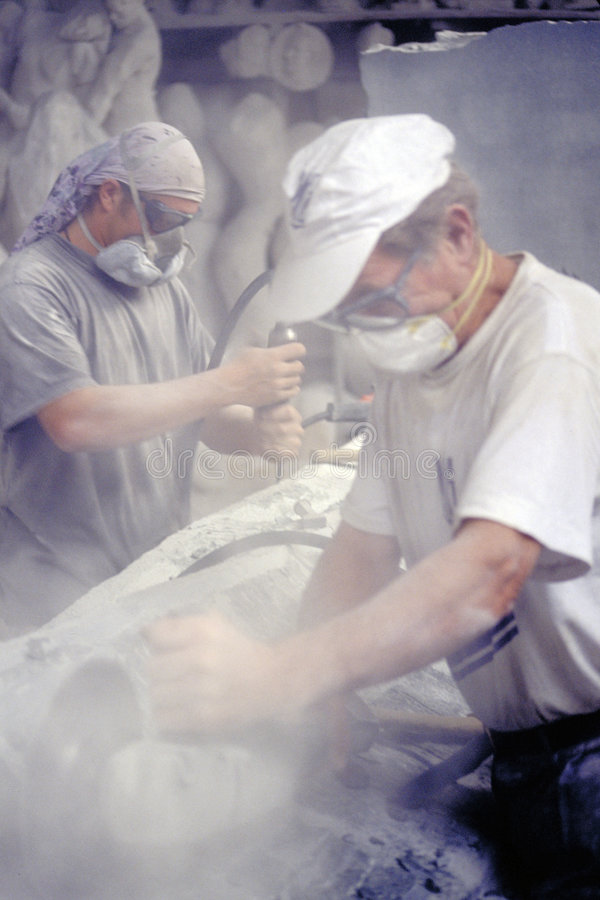 Marble Worker stock photography