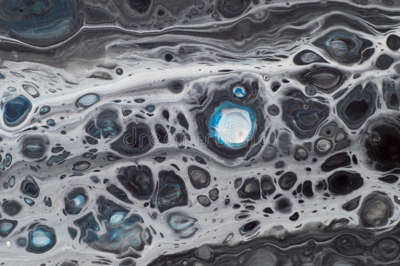 Marbled marine abstract background. Liquid acrylic marble pattern.  stock photography