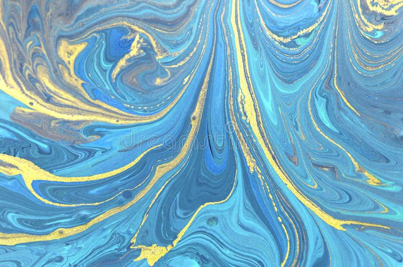 Marbled paper background. stock illustration