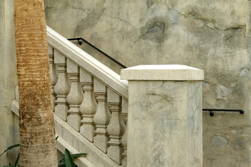 Marbled stone railings