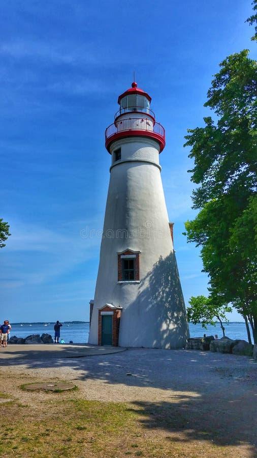 Marblehead灯塔,俄亥俄 免版税库存照片