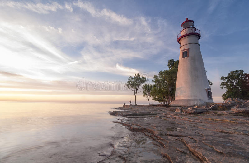 Marblehead Light during Sunrise [Ohio, United States] royalty free stock images