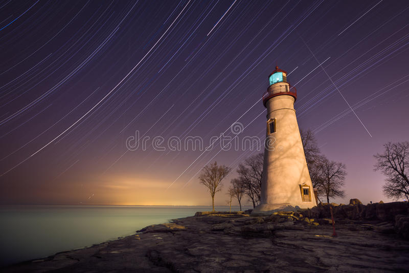 Download Marblehead Star Trails stock photo. Image of rocky, lake - 24599224