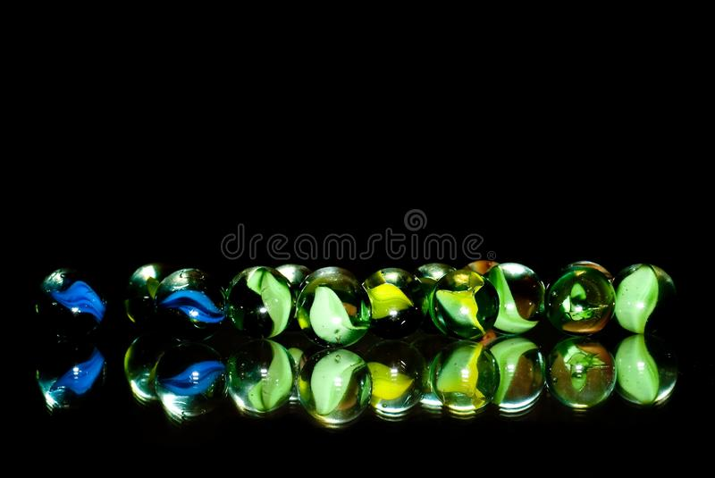 Download Marbles In The Dark stock photo. Image of bubbles, ball - 15930858