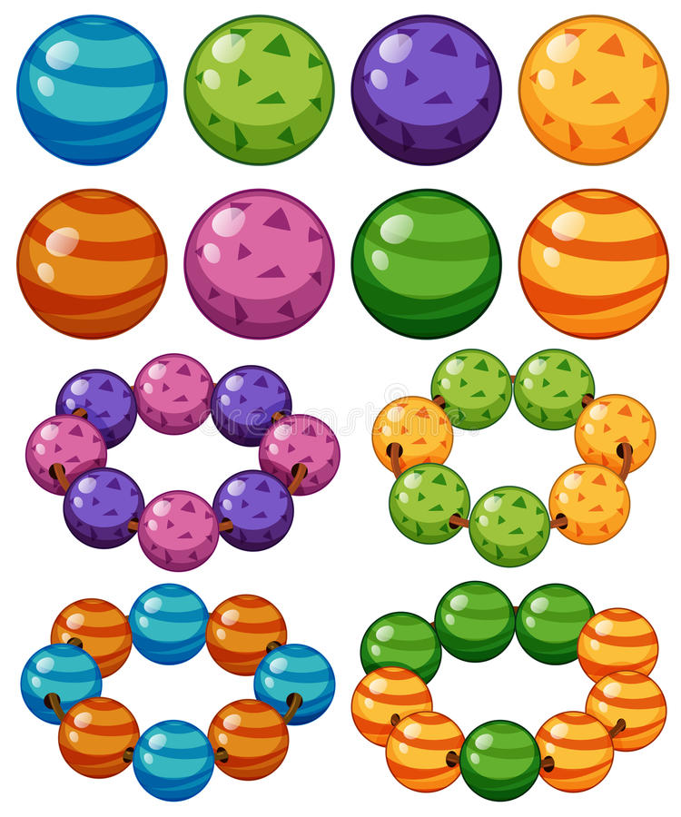 Marbles in different colors royalty free illustration