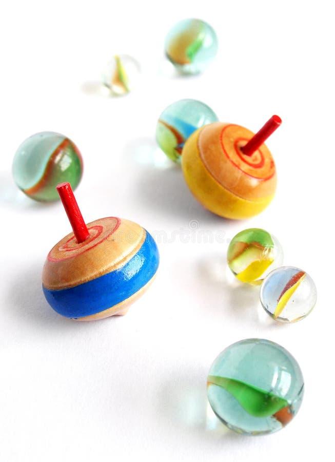 marbles tops wooden στοκ φωτογραφία με δικαίωμα ελεύθερης χρήσης