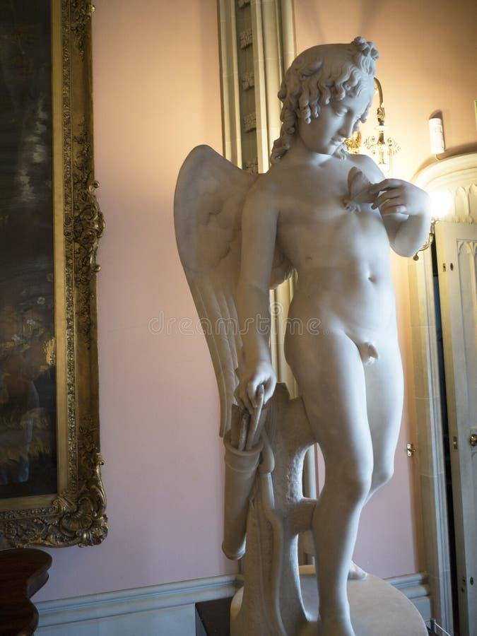 MarbleStatue w Bodelwyddan kasztelu północy Walia obraz royalty free