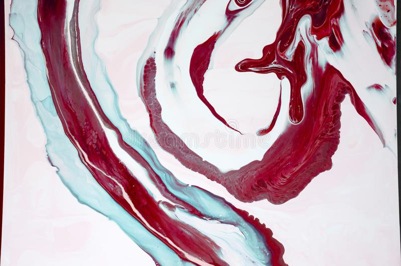 Marbling. Marble texture. Paint splash. Colorful fluid. Abstract colored background. Raster illustration. Colorful abstract painti royalty free stock image