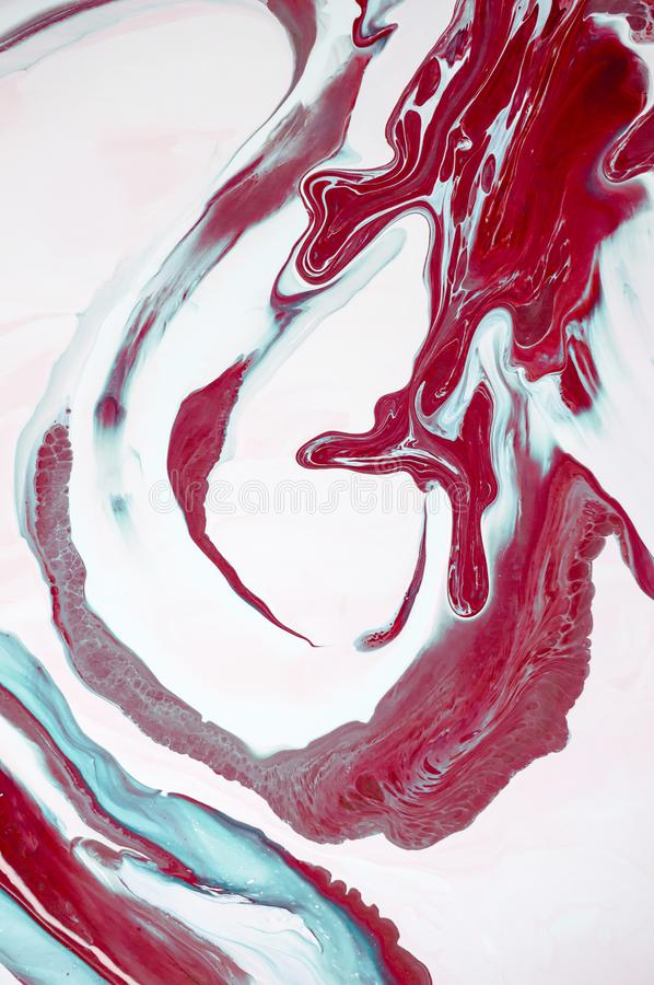 Marbling. Marble texture. Paint splash. Colorful fluid. Abstract colored background. Raster illustration. Colorful abstract painti stock image