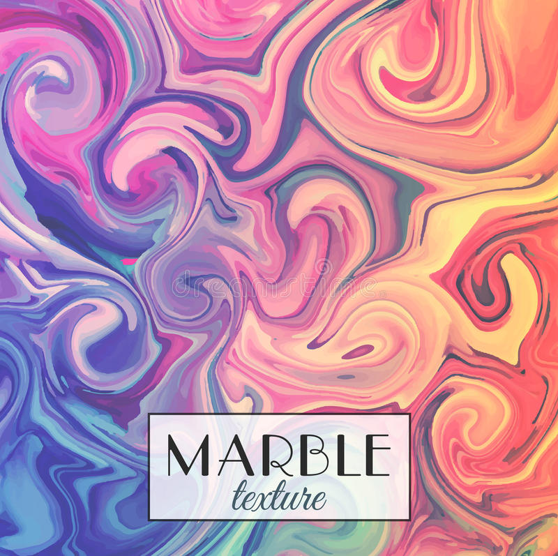 Marbling. Marble texture. Vector abstract colorful background. Paint splash. Colorful fluid stock illustration