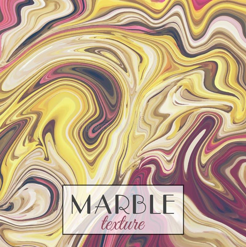 marbling Struttura di marmo Priorità bassa variopinta astratta di vettore Vernici la spruzzata royalty illustrazione gratis