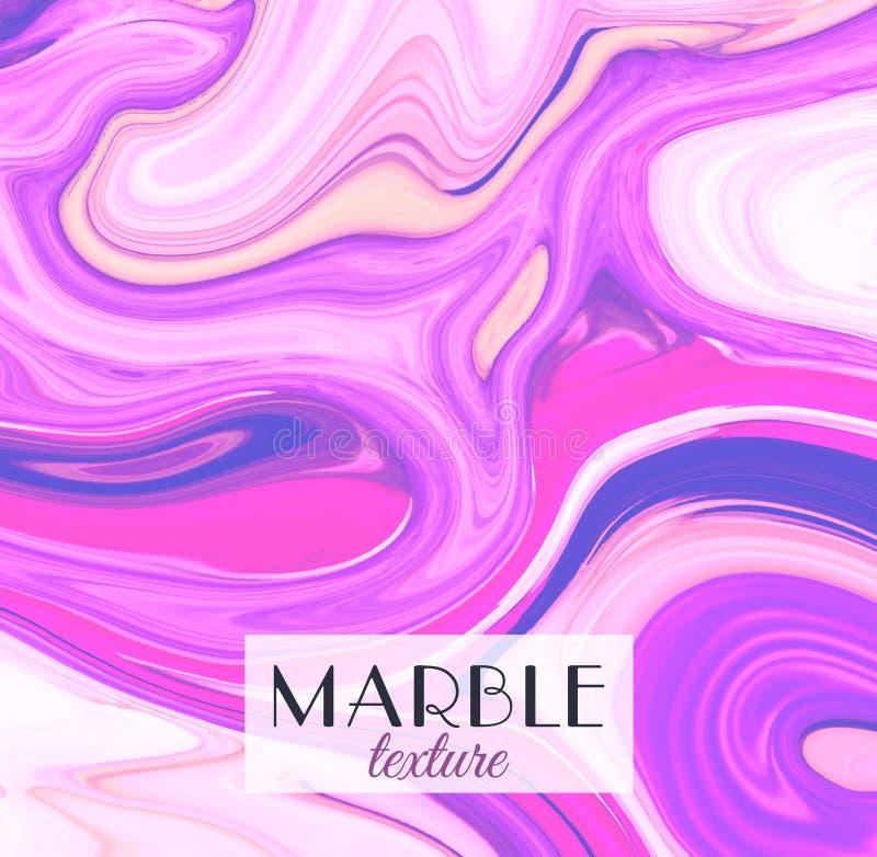 marbling Textura de mármol Fondo colorido abstracto artístico Chapoteo de la pintura Líquido colorido Colores brillantes stock de ilustración